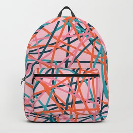 Colored Line Chaos #8 Backpack
