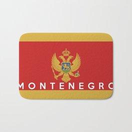 Montenegro country flag name text Bath Mat