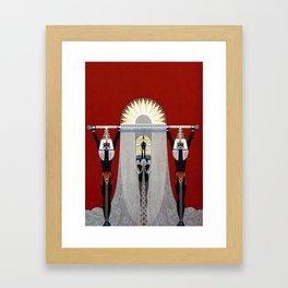 """""""The Egyptian"""" Art Deco Illustration Framed Art Print"""
