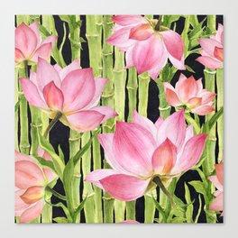 Tropical floral pattern #1 Canvas Print