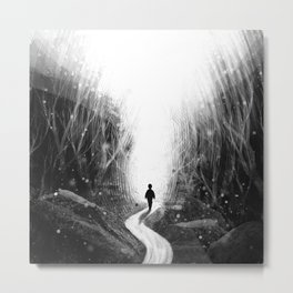 Stick To Your Path. Metal Print