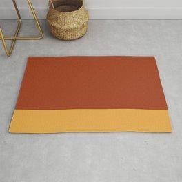 Deep Orange & Gold Color Block  Rug