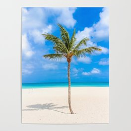 Tropical Island, Palm Tree Poster