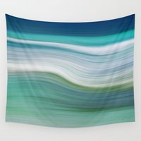 marc Wall Tapestries featuring OCEAN ABSTRACT by Catspaws