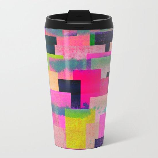 colour + pattern 4 Metal Travel Mug