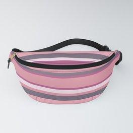 Horizontal Stripes - Soft Berry  Fanny Pack
