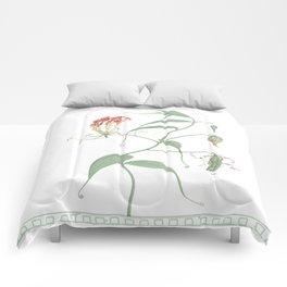Gloriosa Superba (Climbing Lily) Comforters