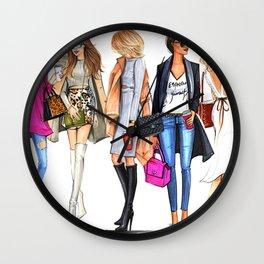 FASHION---GIRL Wall Clock