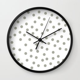 Simply Dots in Retro Gray on White Wall Clock