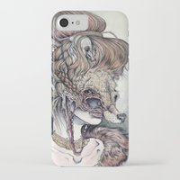 contemporary iPhone & iPod Cases featuring Vulpes Masquerade, now as a print! by Caitlin Hackett