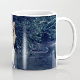 Beautiful girl in the river Coffee Mug