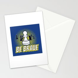 Be Brave Pawn Chess Piece - Cool Chess Club Gift Stationery Cards