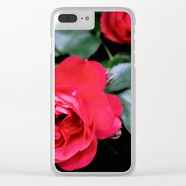 Moody Roses Clear iPhone Case