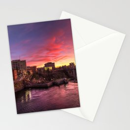Monroe Bridge Sunset View Stationery Cards