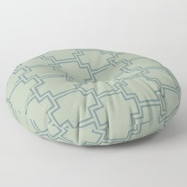 Blue-Green Green Line Pattern 2 Ornamental Box 2021 Color of the Year Aegean Teal Salisbury Green Floor Pillow