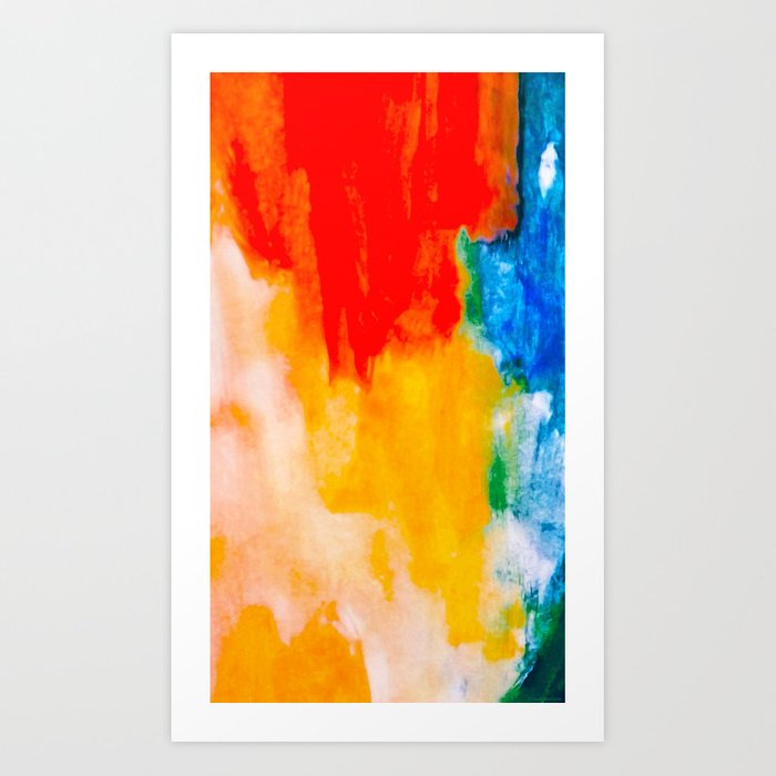 """Running Colors"" Art Print"