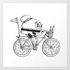 Pizzabike Burger Art Print