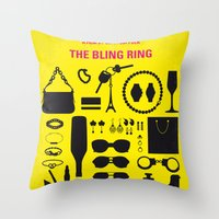 No784 My The Bling Ring minimal movie poster Throw Pillow