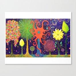 Vivacious Funky Foliage Canvas Print