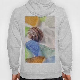 Tiny Sea shell and Beach Glass Hoody