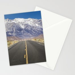 Snowcapped Sierras Highway 136 Stationery Cards