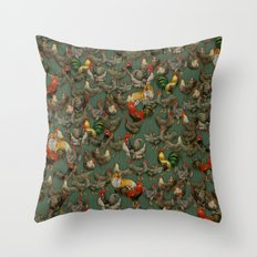 Kikiriki Throw Pillow