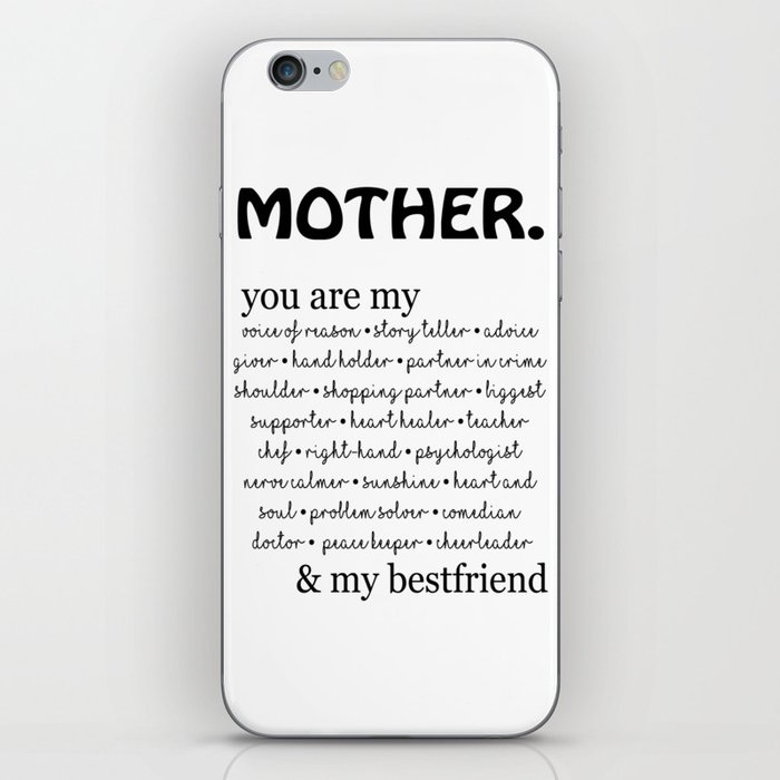 mother quotes iPhone Skin by neeoart