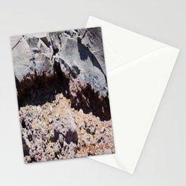 road trip, lava destruction, melted rock, landscape Stationery Cards