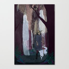 Ghosty Woods Canvas Print