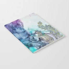 Remembering_ abstract painting , alcohol ink painting Notebook