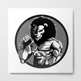 lion man MMA fighter pose Metal Print