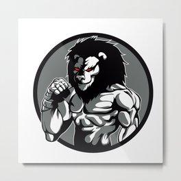 lion man MMA fighter pose Metal Print