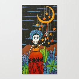 She Hangs the Stars Canvas Print