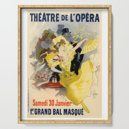Belle Epoque vintage poster, French Theater, Theatre de L'Opera Serving Tray