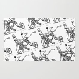Cartoon Retro Mod 8-Ball Muscle Bike Bicycle Stingray Rug