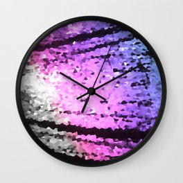 Pink Lavender Periwinkle Crystal Texture Wall Clock