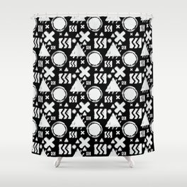 Contrast Geometrix Shower Curtain