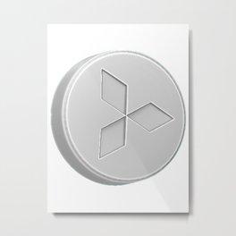 Mitsubishi Pill Metal Print