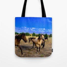Happy Horses Tote Bag