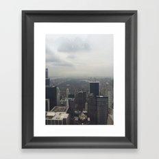 Central Park in the Fog Framed Art Print