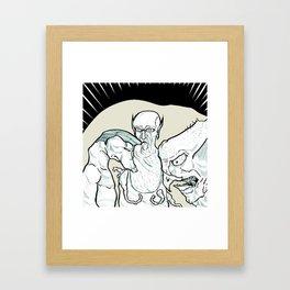Three Buddies Framed Art Print