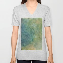 Pastel Abstract Watercolor Painting Unisex V-Neck