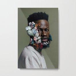 Floral Beard Metal Print