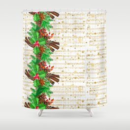 Christmas pine cones #3 Shower Curtain