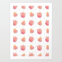 The Pink Tulip Pattern Art Print