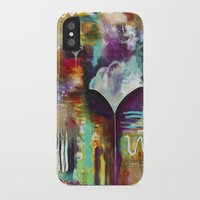 """flora bowley iPhone & iPod Cases featuring """"Spirit Works"""" Original Painting by Flora Bowley by Flora Bowley"""