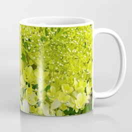 Elegant Chartreuse Green Limelight Hydrangea Macro Coffee Mug