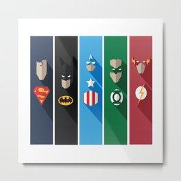 Superheros No. 6-10 Metal Print