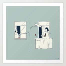 Sound in quarantine Art Print