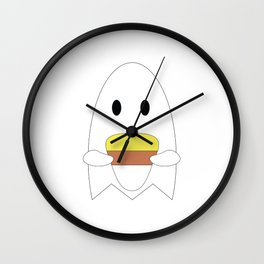 Ghost with Candy Corn Wall Clock